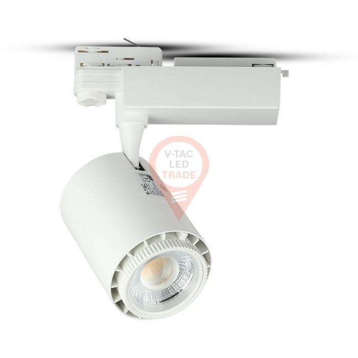 45W LED Track Light CRI>95 White Body 3 in 1