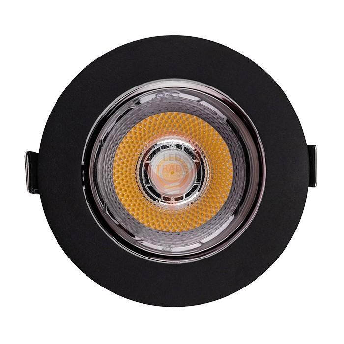 LED Downlight SAMSUNG Chip 10W COB Reflector Black 6400K