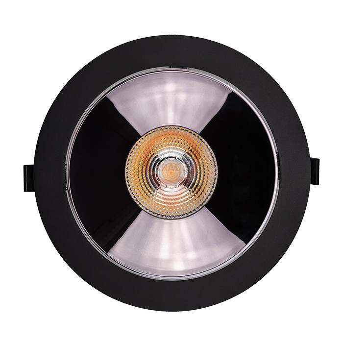 LED Downlight SAMSUNG Chip 30W COB Reflector Black 6400K