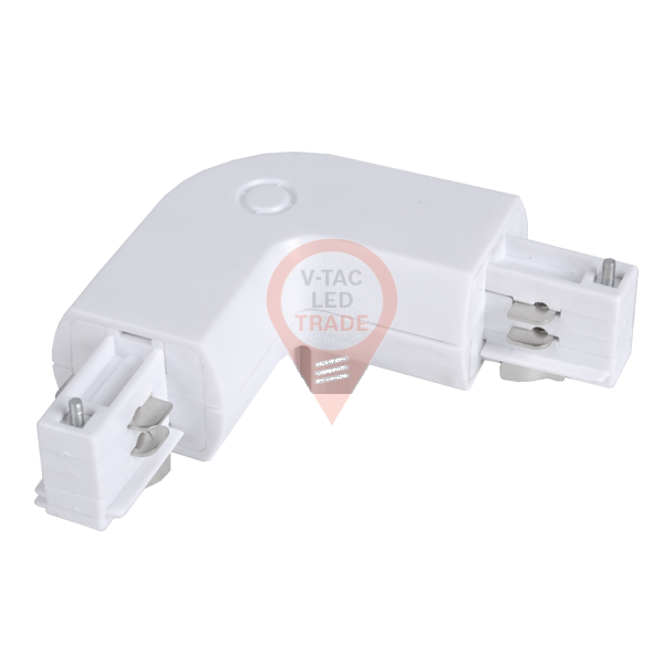 4L Track Light Connector White