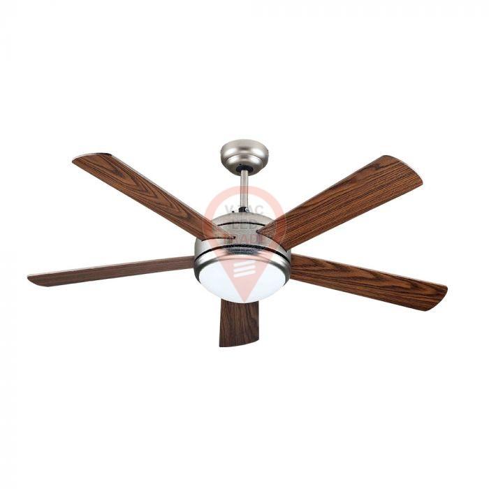 15W LED Ceiling Fan Remote Control 5 Reversible Double Color Blades