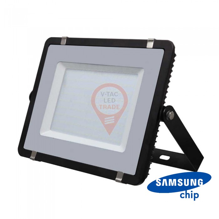 300W LED Floodlight SMD SAMSUNG CHIP SLIM Black Body 6400K 120LM/W
