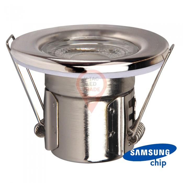 5W LED Fire Rated Downlight SAMSUNG Chip Chrome Dimmable 3000K
