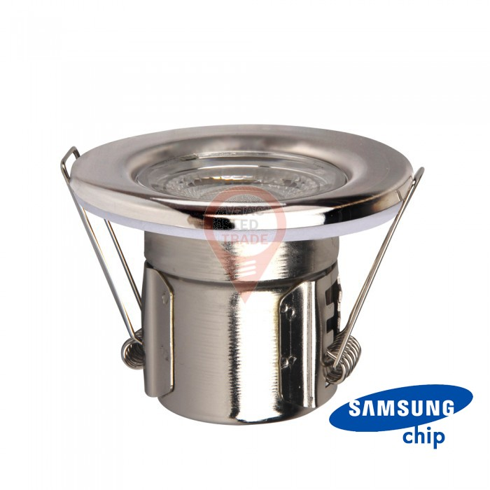 5W LED Fire Rated Downlight SAMSUNG Chip Chrome Dimmable 6400K