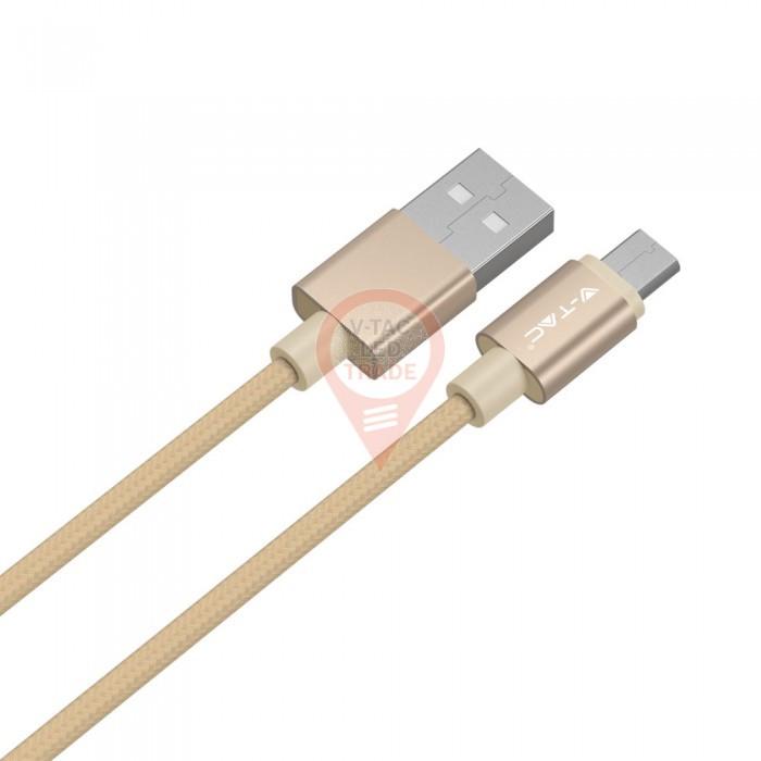 1m. Micro USB Cable Gold - Platinum Series