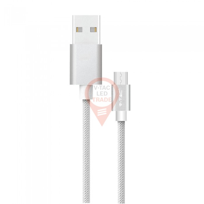 1m. Type C USB Cable Silver - Platinum Series