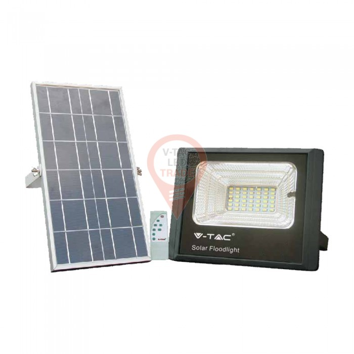 12W Solar Panel with LED Floodlight 6000K