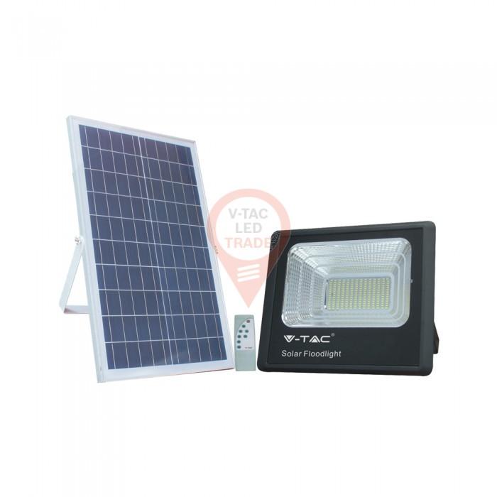 50W Solar Panel with LED Floodlight 6000K