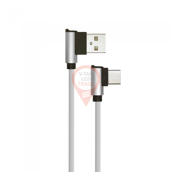 1m. Type C USB Cable Grey - Diamond Series