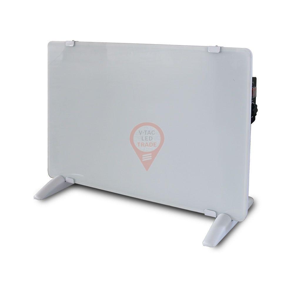 2000W LED Glass Panel Heater with Aluminium Heating Element White IP24