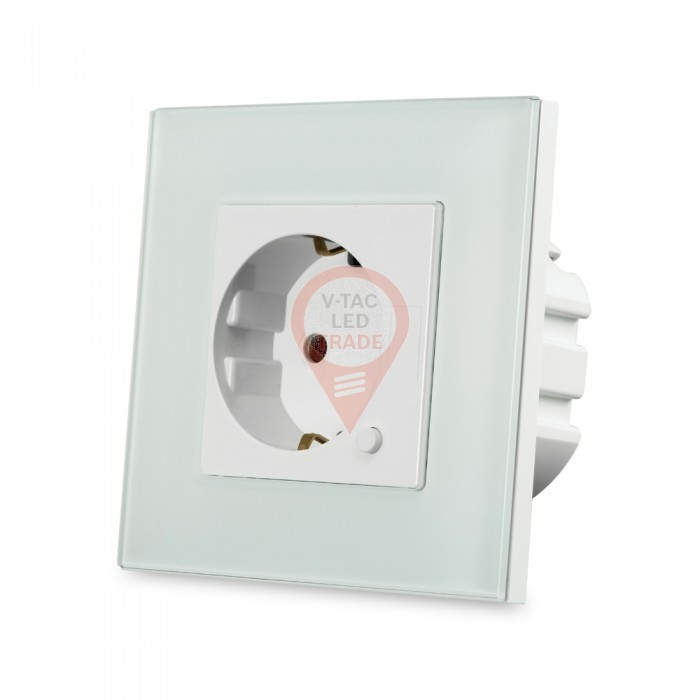 EU WIFI Wall Socket White