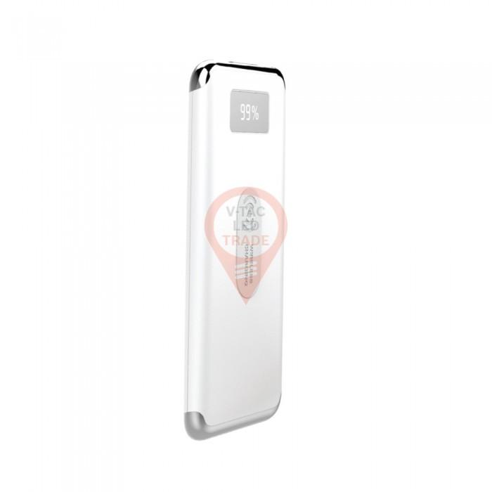 10000mAh Power Bank Display Wireless Charging White