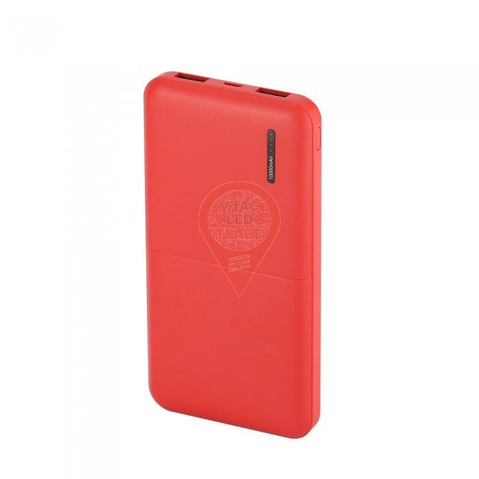 10K mAh Super Slim Power Bank Red