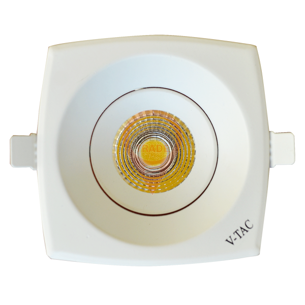 8W LED Downlight COB Square - White Body, Warm White