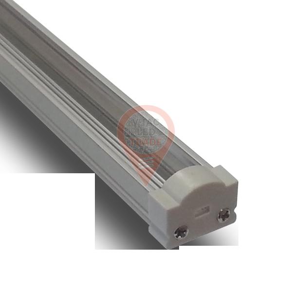 Aluminum Profile Narrow Round Cap Transparent
