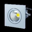 3W LED Downlight Square - White Body, Warm White