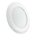 12W LED Mini Panel Glass - Round, Warm White