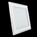 12W LED Mini Panel Glass - Square, White