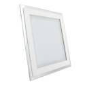 12W LED Mini Panel Glass - Square, Warm White