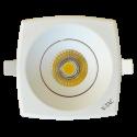 8W LED Downlight COB Square - White Body, White