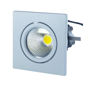3W LED Downlight Square - White Body, Warm White
