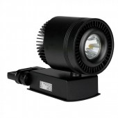 45W LED Track Light CRI>95 Black Body White