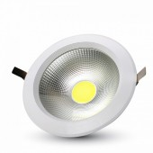 30W LED COB Downlight Round White