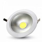 40W LED COB Downlight Round White