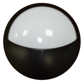 12W Surface mounted LED Fixture - Half Round, Natural White