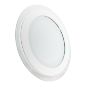 18W LED Mini Panel Glass - Round, White