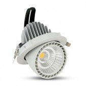 33W LED Zoom Fitting Downlight Round Warm White
