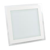 18W LED Mini Panel Glass - Square, White