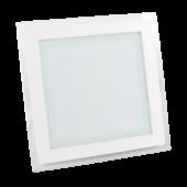 18W LED Mini Panel Glass - Square, Warm White