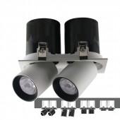 LED Downlight SAMSUNG Chip 2 x18W White Black Body 4000K