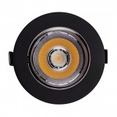 LED Downlight SAMSUNG Chip 10W COB Reflector Black 3000K