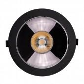 LED Downlight SAMSUNG Chip 30W COB Reflector Black 4000K