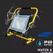 100W LED Floodlight SMD SAMSUNG Chip Black Body 6400K Stand 3m Wire EU Plug