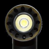 20W LED Track Light Black Body Round White