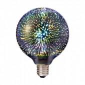 LED Bulb - 3W E27 Filament 3D G125 3000K