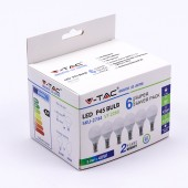 LED Bulb - 5.5W E14 P45 4000K 6PCS/PACK