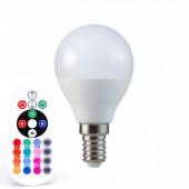 LED Bulb - 3.5W E14 P45 Dimming Brightness RF Control RGB + 4000K