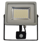 30W LED Sensor Floodlight Black/Grey body SMD,  Warm White