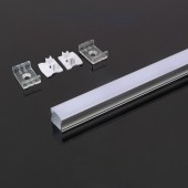 Aluminium Profile 2000 x 17.2 x 15.5mm Milky