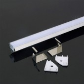 Aluminum Profile 2m 19 x 19 mm White Housing