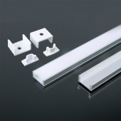 Aluminum Profile 2m 17.4 x 7 mm White Housing