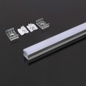 Aluminum Profile 2m 17.2 x 15.5 mm White Housing
