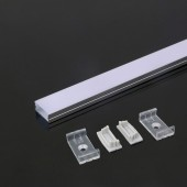 Aluminum Profile 2m 23.5 x 10 mm White Housing