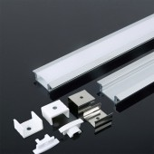 Aluminum Profile 2m 24.7 x 7 mm White Housing