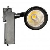 33W LED Track Light Black Body, White