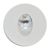 3W LED Downlight Steplight Round - White Body, Natural White